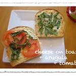 arugula cheese toast