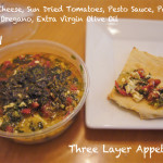 three layer appetizer