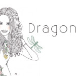 header design : dragonfly