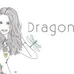 header design : dragonfly