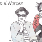 header design : hats & horses