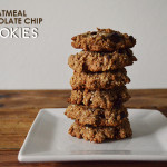 vegan: oatmeal chocolate chip cookies