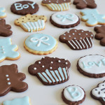 baby shower icing cookies