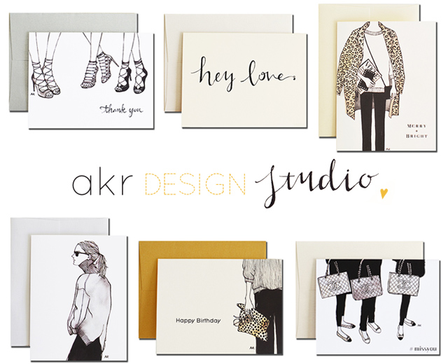 Fashion Illustration Greeting Cards Style Imported