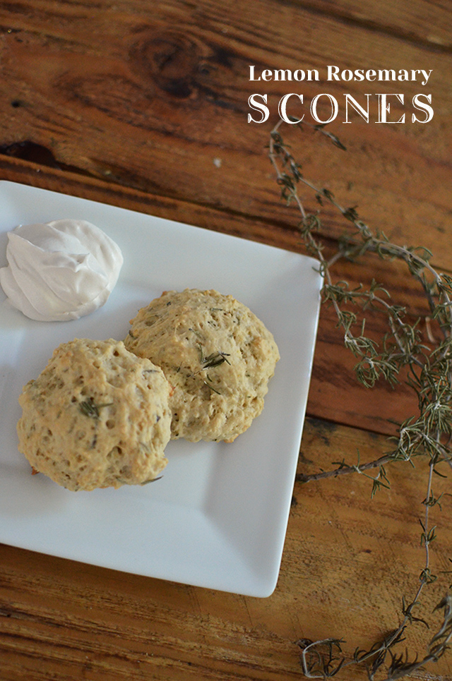 lemon rosemary scone