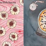 spoon fork bacon