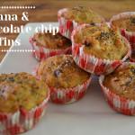 banana chocolate chip muffins – gluten free
