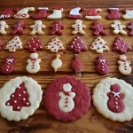 two tone holiday cookies