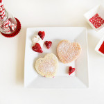 valentine's day : heart shaped pancakes