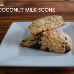 vegan coconut milk scone