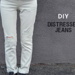 diy : distressed jeans