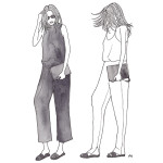 trend alert: wide pants + flat sandals